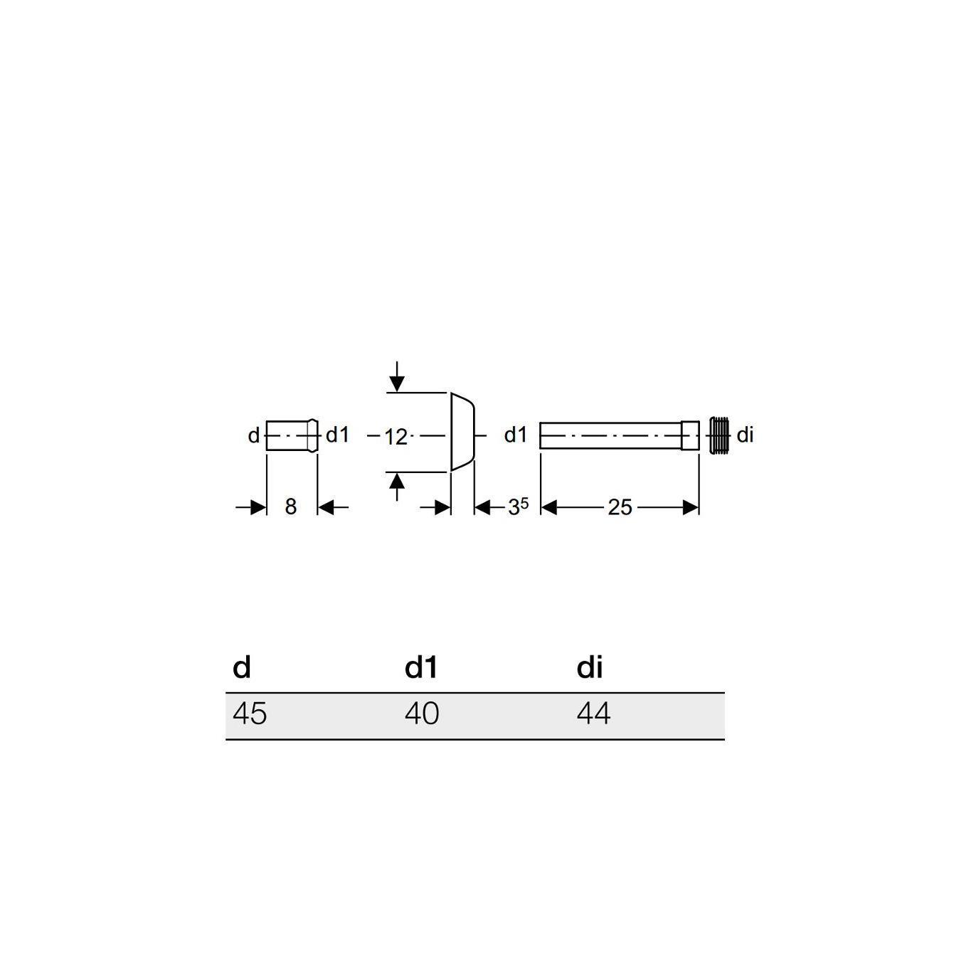 Grigio Geberit 118.221.11.1 Canotto Morsetto e Rosone per Cassetta